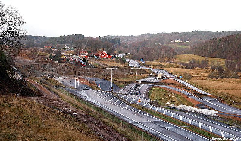 061222 E6 rasade vid Småröd, Munkedal
